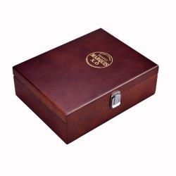 Contenitore impaccante di legno di legno solido di mogano ricco su ordine Handcrafted di caselle di immagazzinamento in le bustine di tè del contenitore di vino dello scompartimento