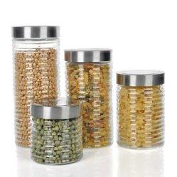 Buona fabbrica della cristalleria della Cina di prezzi per il vaso di vetro di 500ml 1000ml 1500ml 2000ml con il coperchio acrilico