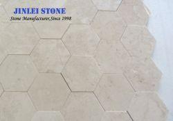 Nata lajes de mármore Bege Elite barata e ladrilhos para Design de Interiores, Laje de pavimentação, casa de banho, Hotel, mosaicos