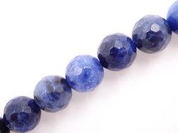 Commerce de gros un grade de sodalite naturelles Perles à facettes (Ronde 4-12mm)