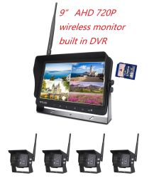 Monitor LCD Quad per auto wireless 720p 2.4G da 7/9/10,1""