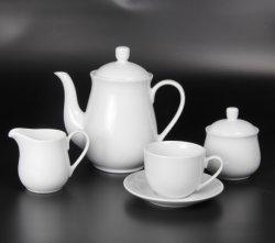 15 pièces de porcelaine classique européenne Service à thé, café thé blanc pur définit pour le ménage et de mariage