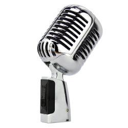 GAM-01 شخصية الغناء الكاريوكي تسجيل Vintage Mic Professional Retro MICS ميكروفون سلكي ديناميكي بأسلوب قديم