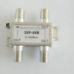 Un passage de puissance à port la télévision par câble séparateur séparateur numérique 3 voies répartiteur CATV intérieur