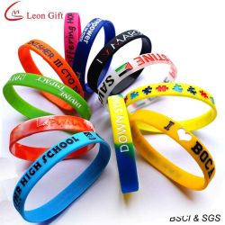 Commerce de gros adulte Bracelet en silicone pour cadeau personnalisé (LM1629)