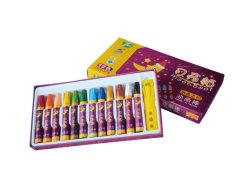 색깔의 밝은 광범위를 가진 12 색깔의 기름 파스텔 화가 색칠