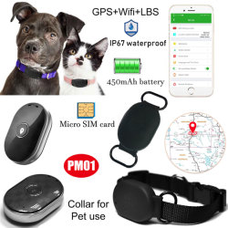 Mini-Hidden Pet Cat Dog GPRS Rastreador GPS Navigator com GPRS Rastreamento em tempo real