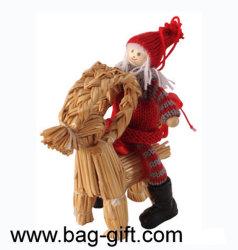Feutre et Yarn Christmas Decorations