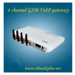 Passagem GoIP_4 de VoIP G/M do elevado desempenho (porto do cartão 4-SIM)