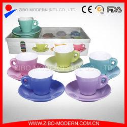 卸し売り白いコーヒー茶陶磁器のカップ・アンド・ソーサーセット