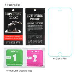 2.5D 9h Anti Protetor de Tela vidro temperado de choque para iPhone 6/7/8 Plus