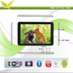 7 pouces Mtk6577 3G La Double Carte SIM Bluetooth WiFi GPS Dual Core Tablet PC