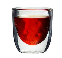 創造的なデザインカクテルグラスのコップのハンドメイドのコーヒーカップの倍の壁のウィスキーのコップのワインのコップ