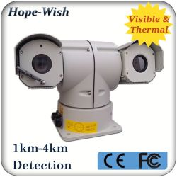 Двойной вид CMOS высокого Defination PTZ IP-камера с тепловой обработки изображений