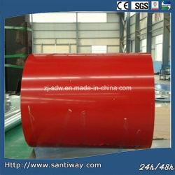 중국에서 만든 빨간색 색상도색 갈바니ized Steel Coil Sheet