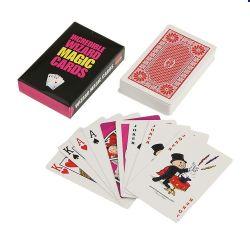 Kundenspezifische Papier-/Plastikschürhaken-magische Spielkarten