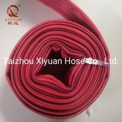 سعر جيد لخرطوم الحريق من مادة PVC المرن الأحمر بحجم بوصتين 16 بار