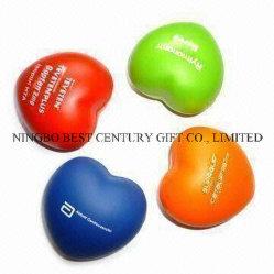 Espuma de poliuretano mayorista Squeeze juguete de regalo San Valentín Gadgets promocionales corazones bolas estrés