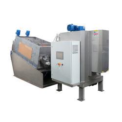 Hohe Japanische Qualität Volute Typ Gestapelt Schraube Schnecke Pressfilter Schlammentwässerungsmaschine für die mechanische Abwasserbehandlung