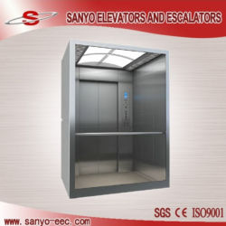A tecnologia do Japão VVVF SANYO elevador com vidro do passageiro