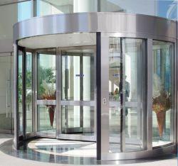 Rotación automática de la puerta de cristal