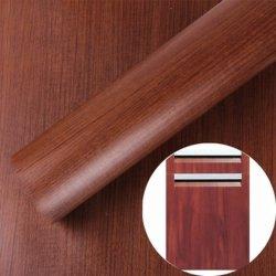 室内装飾の木製の穀物のキャビネットドアPVCフィルムのための工場価格