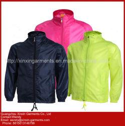 La coutume de femmes veste imperméable Windproof Cyclisme enduire avec l'écran du logo d'impression (J217)