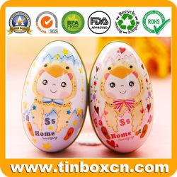 卵の子供の祝祭のギフトの包装ボックスのための整形金属の錫
