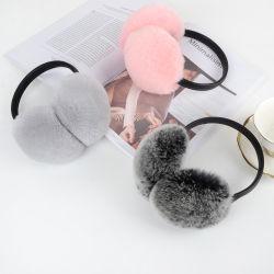 Protectores auriculares de Inverno moda /Fake Fur Protectores auriculares de couro