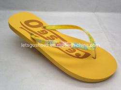 고무 PVC PE 플립 플롭 슬리퍼를 인쇄해서 가죽끈 플립 플롭을 구두를 신긴다