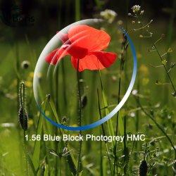 1.56 Photogray Bloque azul lente óptica HMC