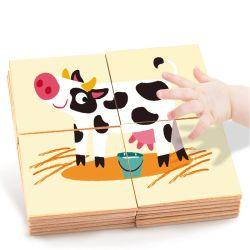 Gioco Puzzle Giochi Di Educazione Giocattoli Di Legno Farm Set