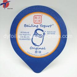 Les couvercles d'aluminium colorés pour l'yaourt tasse