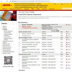 中国からのタイバンコクの安い価格DHLへのDropshippingサービスは運送業者を表現する
