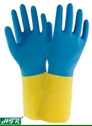 Texture en caoutchouc Synthestic Diamond chemise Coton résistant aux produits chimiques des gants de travail