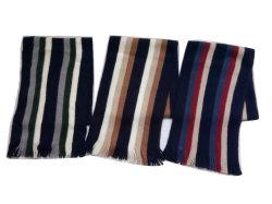Los hombres de moda acrílico tejido Super Soft Franja vertical bufanda pulido