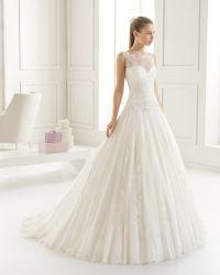 2018 vestidos nupciales A - línea alineada de boda A2017101 del cordón