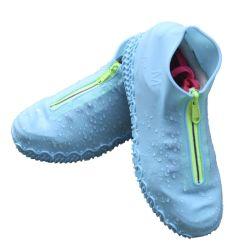 Couvercle de la pluie de chaussures imperméables en caoutchouc anti-patinage de l'imperméable réutilisable d'amorçage de pluie couvre-chaussures semelles de chaussures Outdoor Camping en silicone d'outils