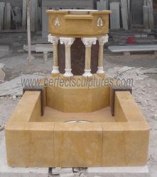 Lado entalhado mármore natural Igreja baptismo Font (OT-27)