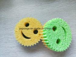 Colorida cocina baño de esponja de celulosa de limpieza