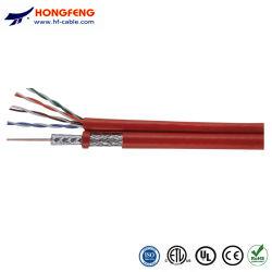 Energien-Steckschnür der CCTV-Kamera-Rg59 siamesische KoaxialCable+ BNC