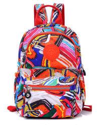 Neue Designer-Tasche Mit Doppeltem Schultertasche Und Gemischtem Fashion Style Freizeit Nylon Wasserdichter Schul-Rucksack (4) Zh-Bk104