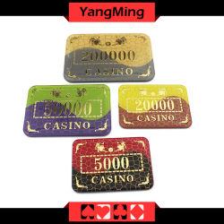 カジノの火かき棒クラブChipsmodel (YM-CP006)のための青銅色になる/水晶アクリルのポーカー用のチップ勝利