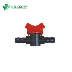 Raccord de soupape d'irrigation de gros Mini Mini distributeur en plastique noir en PP