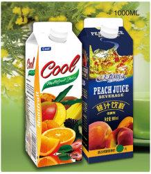 El agua, té/Leche/Laylactobacillus/bebidas jugo y la albúmina/Yoghour/catsup/JAM/Lavation/Paquete de vinagre de frutas de cartón de papel