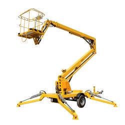 [6م-20م] نفس - يدفع هيدروليّة كهربائيّة يعلى يمفصل [توو-بهيند] إزدهار رجل كرز مقطفة مصعد عربة [تووبل] متداخل يمفصل جوّيّة إزدهار مصعد