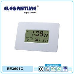 Grandes funciones digitales con repetición de alarma reloj controlado por radio digital