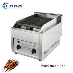 Goodloog 호텔 식사 장비 전기 자물쇠 독립 구조로 서있는 브라질 바베큐 기계 휴대용 프로판 가스 무연 스테인리스 용암 바위 과자 굽는 번철 석쇠 BBQ