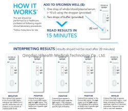 Uitrusting van de Test van Diagnos van het Antilichaam Igg/Igm van Biotech de Snelle Medische