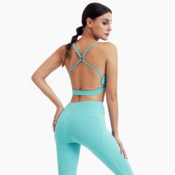 2021 Nouveau 2 pièces pour femmes décontracté Sportswear Yoga Wear Yoga Wear Costume pour Femme vêtements de gym Athletic Fitness Tracksuit